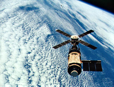 Overhead view from Skylab 4 in Earth orbit