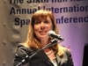 NASA Deputy Administrator Lori Garver delivers a keynote speech for the Sixth Annual Ilan Ramon International Space Conference in Herzliya, Israel, on Jan. 30.