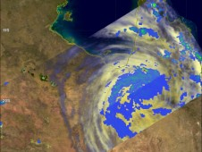 The TRMM satellite flew above Yasi on Feb. 2 at 10:39 p.m. EST/1:39 p.m. Australia local time collecting data on rainfall rates.