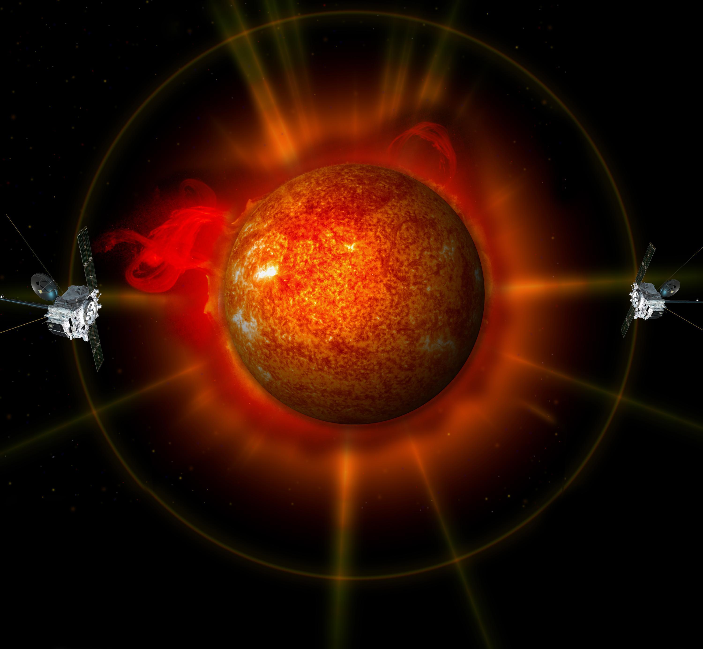 NASA впервые получило трехмерное изображение Солнца.
