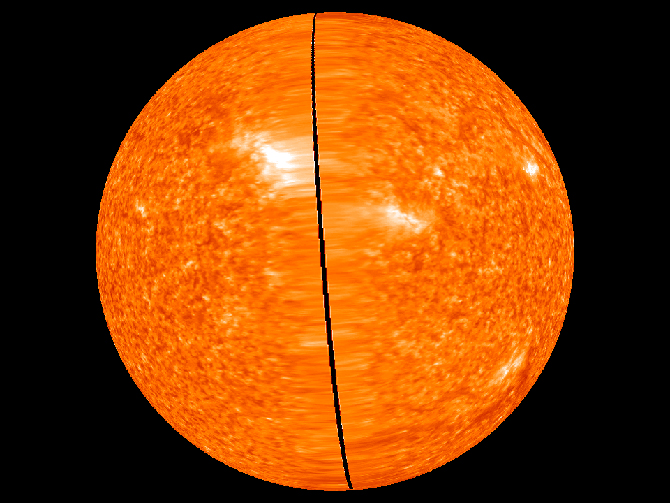 Latest image of the far side of the Sun based on high resolution STEREO data, taken on February 6, 2011 at 23:56 UT.