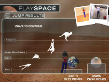 Screenshot of results from Playspace jump feature