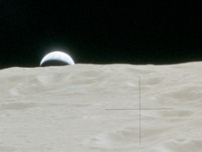 Earthrise as seen on Apollo 14 mission
