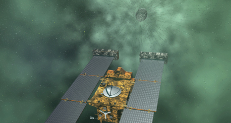 Artist concept of Stardust-NExT mission