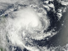 MODIS captured this image of Tropical Storm Bingiza on its approach to Madagascar.