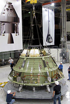 The Orion crew module ground test structure