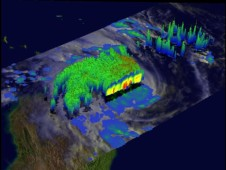 This is a 3-D cross section of Cyclone Bingiza derived from TRMM's Precipitation Radar data.