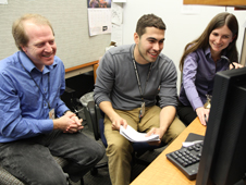 Pictured from left are Goddard engineers Eric Mentzell and Marcello Rodriguez with Goddard astrophysicist and TTI principal investigator Sarah Jones.