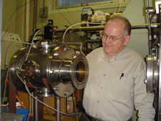 Bruce Banks supporting the  Space Environment and Experiments branch in the lab