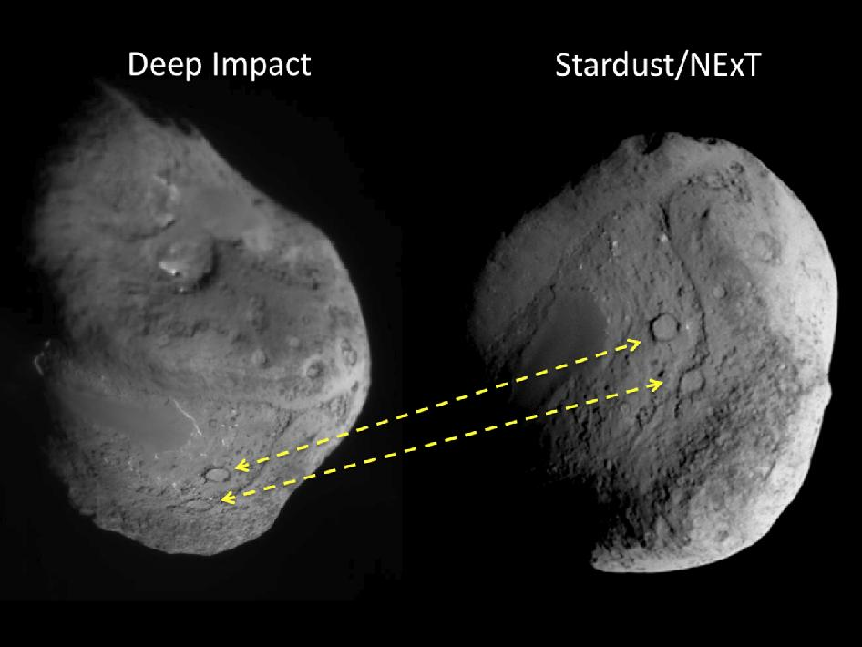 comet Tempel 1 as seen by NASA's stardust