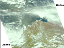 AIRS visible image of Carlos and Dianne