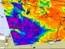 Tropical Storm Carlos in infrared
