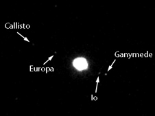 Jupiter's Galilean satellites (Callisto, Ganymede, Europa and Io)