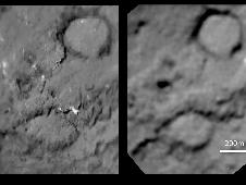 before-and-after comparison of comet Tempel 1
