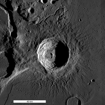 WAC mosaic of the 40 km diameter Aristarchus crater