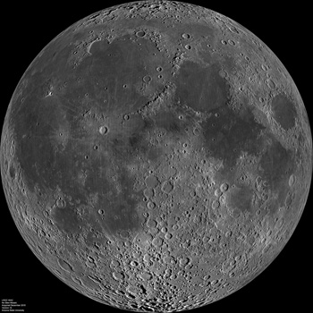 LROC WAC mosaic of the lunar nearside