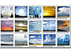Postal stamps with clouds