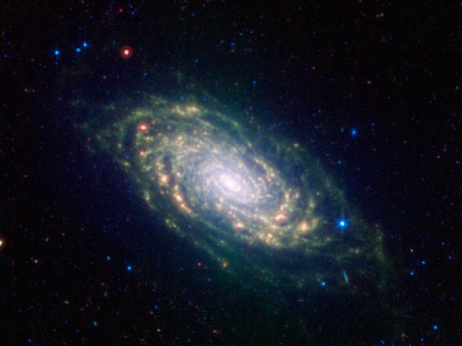 Sunflower Galaxy Glows with Infrared Light