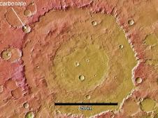 This image shows the context for orbital observations of exposed rocks that had been buried an estimated 5 kilometers (3 miles) deep on Mars.