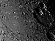 Matisse Crater on Mercury, seen by MESSENGER in 2008