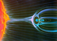 Artist concept of the dynamic conditions in space.