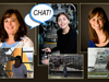Collage of pictures of three women and the word Chat in a text bubble