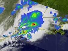TRMM image of rain in March 2011
