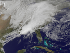 GOES image of rain in March 2011