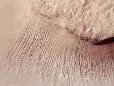 Portions of the Martian surface in unprecedented detail