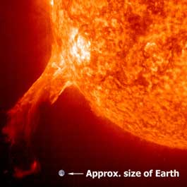 erupting coronal mass ejection