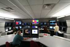The forecast center in NOAA's Space Weather Prediction Center in Boulder, CO.