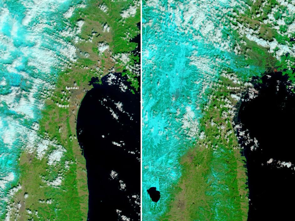 Flood damage in Japan seen by MODIS on NASA's Terra spacecraft