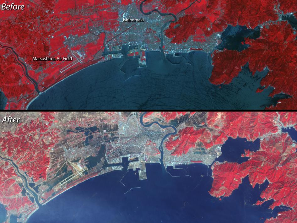 satellite images of Ishinomaki