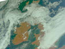 AIRS visible of Ireland March 2011