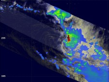 TRMM had another very good view of Arani in the morning light on March 16, 2011 at 1052 UTC.
