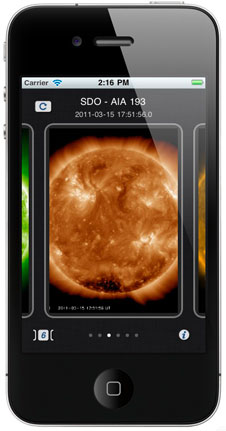 NASA's new Space Weather App allows users to analyze active regions on the Sun using observations by Sun-observing satellites, including the Solar Dynamics Observatory.