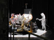 Preparation for one phase of testing of the Mars Science Laboratory rover