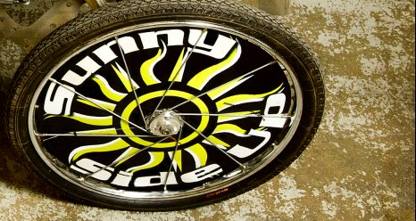 Detail of a moonbuggy wheel