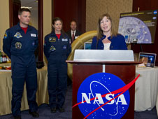 NASA Deputy Administrator Lori Garver addresses the attendee during NASA Technology Day on the Hill.