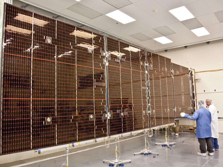 Nasa Juno Solar Panel Deployment Test