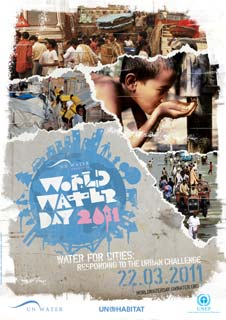 The United Nations is sponsoring a World Water Day once a year from 2005 to 2015 to draw attention to what it sees as a growing problem of fresh water scarcity.