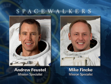 EVA 2 and 3  Spacewalkers Andrew Feustel and Mike Fincke