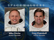 EVA 4 Spacewalkers Mike Fincke and Greg Chamitoff
