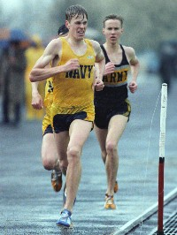 William C. McCool on the cross-country course at the U.S. Naval Academy