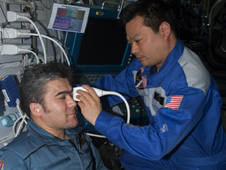 ISS Expedition Commander Leroy Chiao