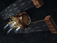 Artist concept of NASA's Stardust spacecraft