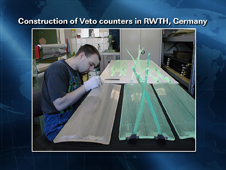 Construction of Veto Counters in RWTH, Germany