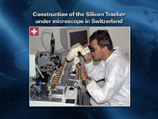 Construction of the Silicon Tracker Under Microscope in Switzerland
