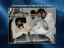 Construction of the ECAL in Pisa