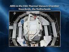AMS in the ESA Thermal Vacuum Chamber